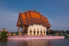 Temple In The Lake Stock Photography