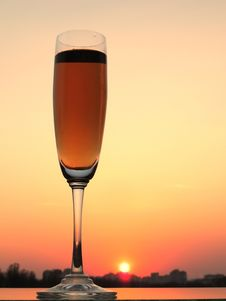 Free Glass And Sunset Royalty Free Stock Images - 19822649