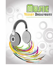 Free Abstract Illustration Of A Headfone, Vector Royalty Free Stock Images - 19822799