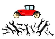 Free Repair Of Old Car Royalty Free Stock Photography - 19823057
