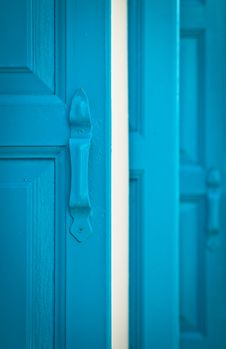 Free Blue Shutters, Portrait Royalty Free Stock Image - 19824096