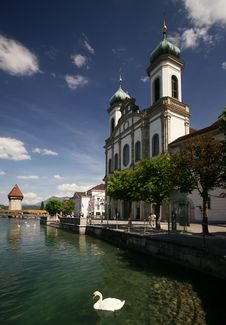 Free Lucerne Jesuit Church Royalty Free Stock Images - 19824539