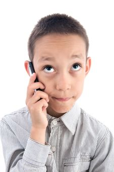 Free Boy With A Phone Stock Images - 19824674