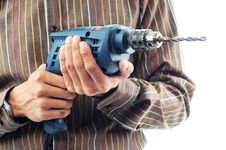 Hand Hold Electric Powered Drill Royalty Free Stock Photo