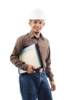 Free Happy Worker Smile While Holding A File Stock Photo - 19825160