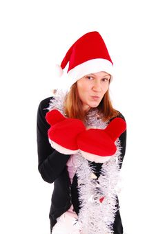 Free Beautiful Sexy Girl Wearing Santa Claus Clothes. Stock Image - 19825321