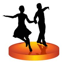 Free Pair Dances A Waltz Royalty Free Stock Image - 19825426
