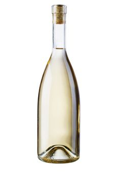 Free Bottle Of White Wine, Isolated On White Background Stock Photo - 19826030
