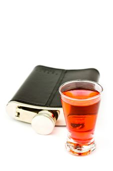 Free Flask And Vodka Royalty Free Stock Image - 19826826