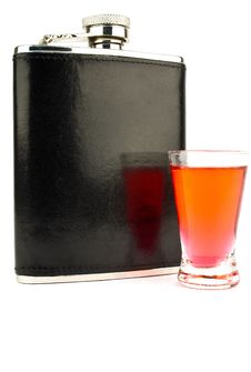 Free Flask And Vodka Royalty Free Stock Photography - 19826847