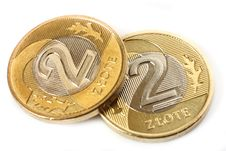 Free Two Coins - Polish Currency Stock Image - 19826921