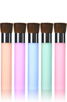 Free Multicolor Makeup Brushes Stock Image - 19826981