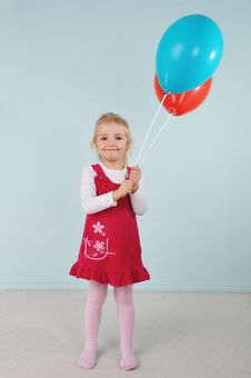 Free Girl With Balloons Stock Photos - 19827423