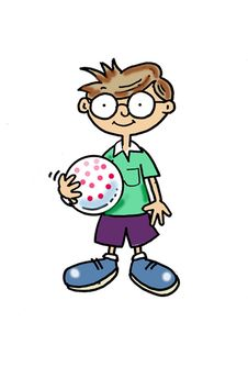 Free Boy With A Ball Royalty Free Stock Photography - 19827507