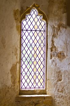 Free Old Leaded Abbey Window Stock Images - 19827864