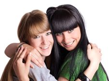 Free Two Smiling Girl-friends Royalty Free Stock Photography - 19828007