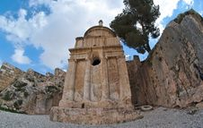 Free Fisheye View Of The Tomb Of Absalom In Jerusalem Stock Photography - 19828012