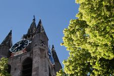 Free View Of The Tower Of The Old Church In Delft Royalty Free Stock Photos - 19828118