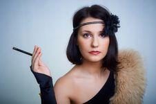 Retro Portrait Royalty Free Stock Image