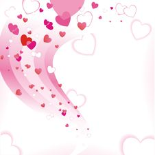 Free Abstract Pink Hearts Royalty Free Stock Image - 19828186