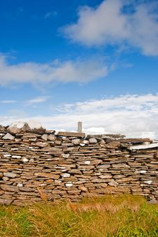 Free Stone Wall On The Farm Royalty Free Stock Photography - 19828417