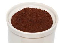 Free Ceramic Jar With Coffee Grain Royalty Free Stock Photos - 19828458
