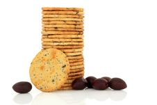 Free Olive Cracker Biscuits Stock Photos - 19828773