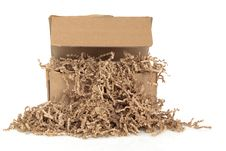Free Cardboard Box And  Filler Royalty Free Stock Image - 19828806