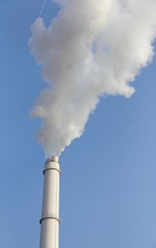 Free Smokestack Against Blue Sky Royalty Free Stock Photography - 19829477