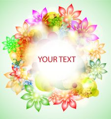 Colorful Abstract Banner With Flowers Royalty Free Stock Image