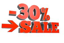 Free 30 SALE Discount Text Royalty Free Stock Images - 19829709