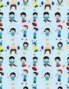 Free Cartoon Sport People Seamless Pattern Royalty Free Stock Image - 19832496