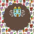 Free Cartoon House Card Royalty Free Stock Photography - 19832517