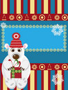 Free Christmas Card With White Bear Stock Photo - 19832520