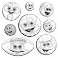 Free Funny Balls(Coloring) Royalty Free Stock Images - 19833619