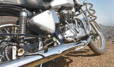 Free Indian Motorbike Chrome Detailing Royalty Free Stock Photos - 19831838