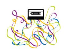 Free Colorful Crazy Cassette Tape Illustration Royalty Free Stock Image - 19831856