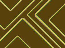 Free Retro Stripes On Brown Royalty Free Stock Image - 19831876