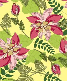 Free Seamless Pattern Floral Royalty Free Stock Photos - 19832008