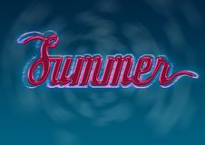 Free Summer Typography Design Stock Photography - 19832042
