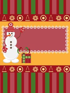 Free Christmas Greeting Card Royalty Free Stock Image - 19832516