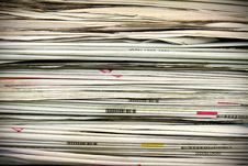 Free Stack Of Newspapers Royalty Free Stock Photos - 19832638