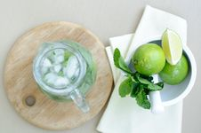 Free Drink With Lime And Mint Stock Images - 19832764