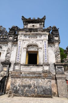 Tomb Of Emperor Khai Dinh Royalty Free Stock Photo