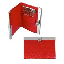 Red Leather Key Case Stock Photography