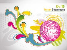 Abstract Modern Vector Illustration,floral Element Royalty Free Stock Images