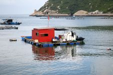 Fishing Village Harbor Royalty Free Stock Photography
