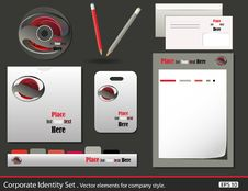 Free Set Of Corporate Identity Templates Stock Photo - 19836650