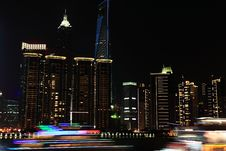 Free Night View In Shanghai Bund Stock Image - 19837071