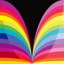 Free Rainbow Curves Royalty Free Stock Images - 19837219